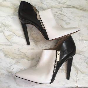 Michael Kors Black/White Heel Zipper Booties